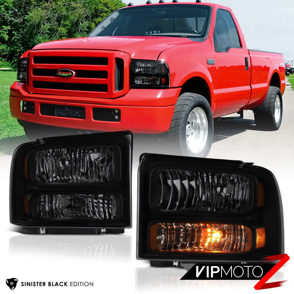 hight resolution of details about 1999 2004 ford f250 f350 superduty sinister black conversion kit head lights