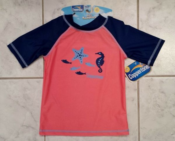 Coppertone Pink And Blue Toddler Girl' Medium 2t-4t