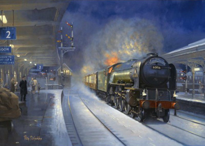 A1 LNER BR Steam Locomotive Engine Railway Train Christmas