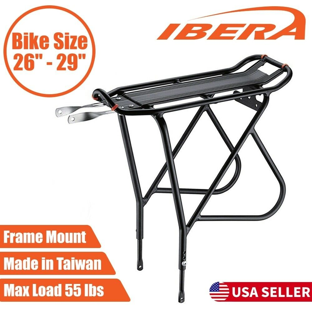 Ibera Bicycle Touring Carrier Rear Rack Adjustable fit 26
