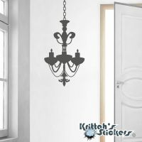 Chandelier Vinyl Wall Decal candle candelabra gothic art ...