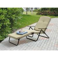 Folding Chaise Lounger Outdoor Furniture Padded Lounge ...