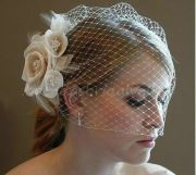 champagne ivory flower fascinator