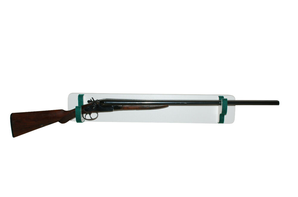 Creighton Gun Rack Double Barrel Shotgun Wall Mount