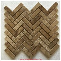 Herringbone Travertine Honed Mosaics Backsplash Polished ...
