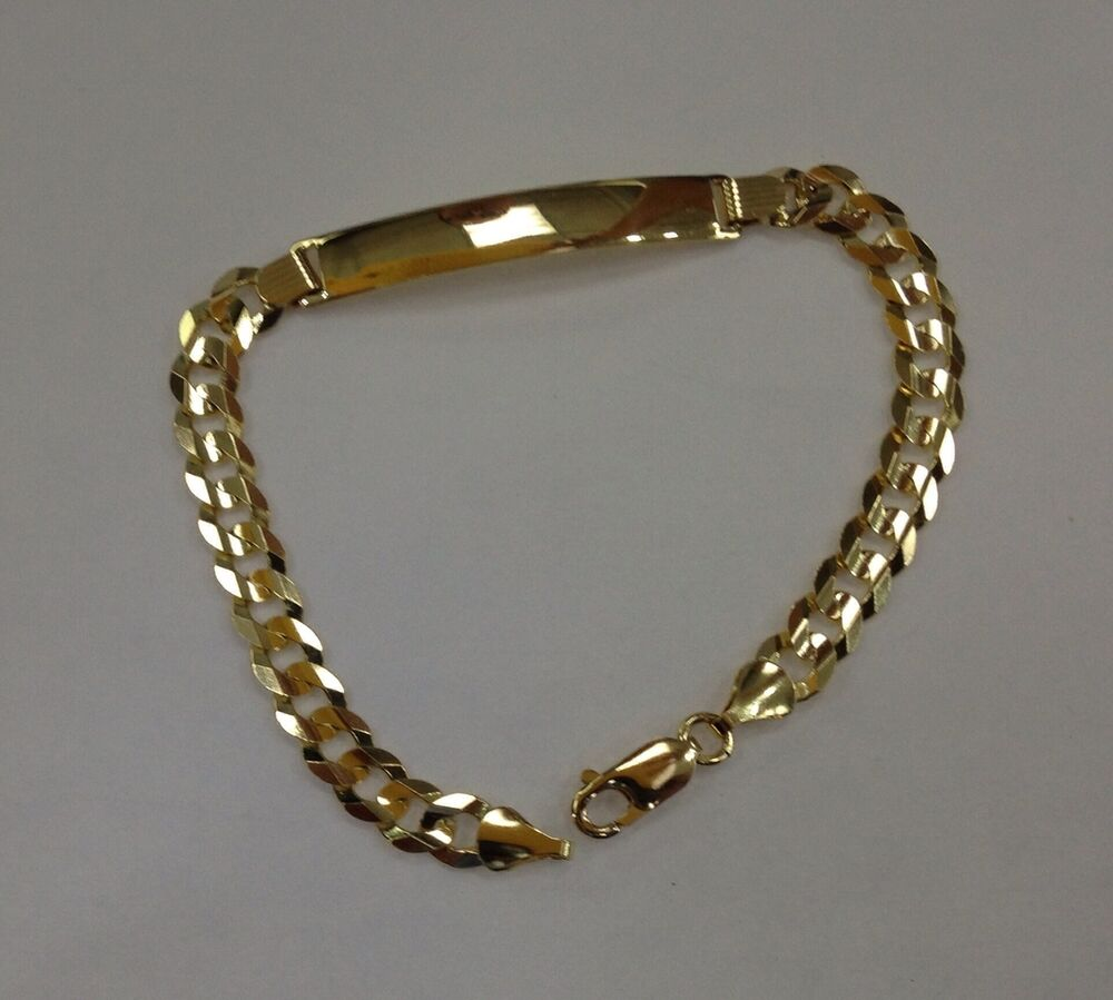 7mm14k Solid Yellow Gold Cuban Link Womenmen's Id