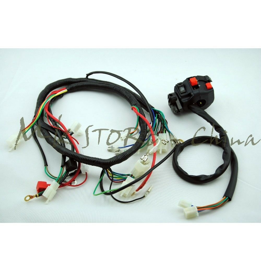 hight resolution of details about engine ac wiring harness 150cc 250cc pit quad dirt bike atv buggy switch lifan