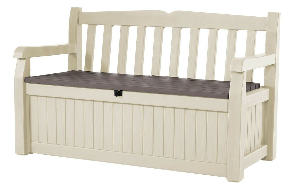 Keter All Weather Outdoor Patio Storage Bench Deck Box 70