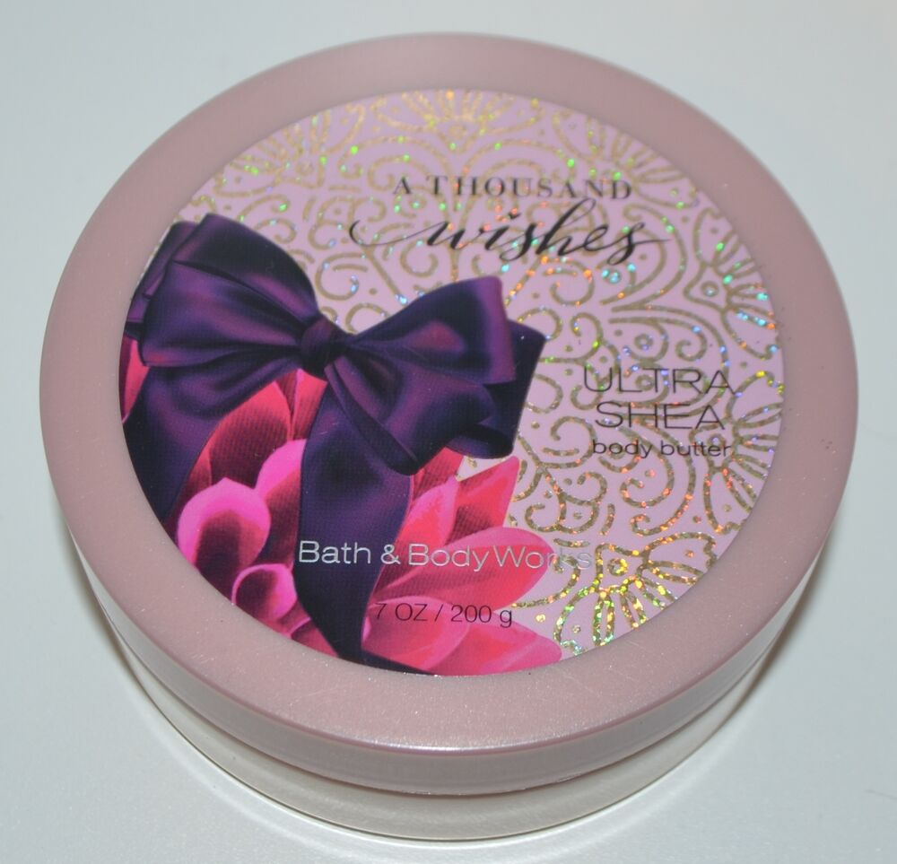 NEW BATH Amp BODY WORKS A THOUSAND WISHES ULTRA SHEA BUTTER LOTION CREAM 7 OZ TUB 667537298289 EBay