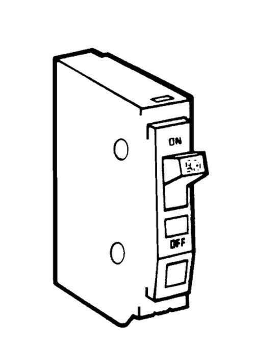 Circuit Breaker,No QO115CP, Square D By Schneider Electric