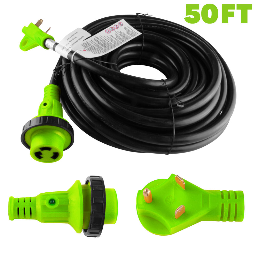 50 Amp Twist Lock Wiring Diagram 50 Foot 30 Amp Rv Extension Cord Power Supply Cable For