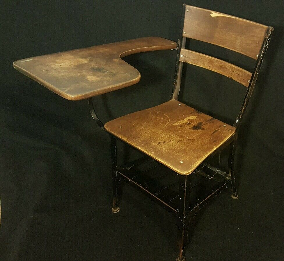 childs desk and chair pedicure liners vintage old school youth student kids furniture large 31