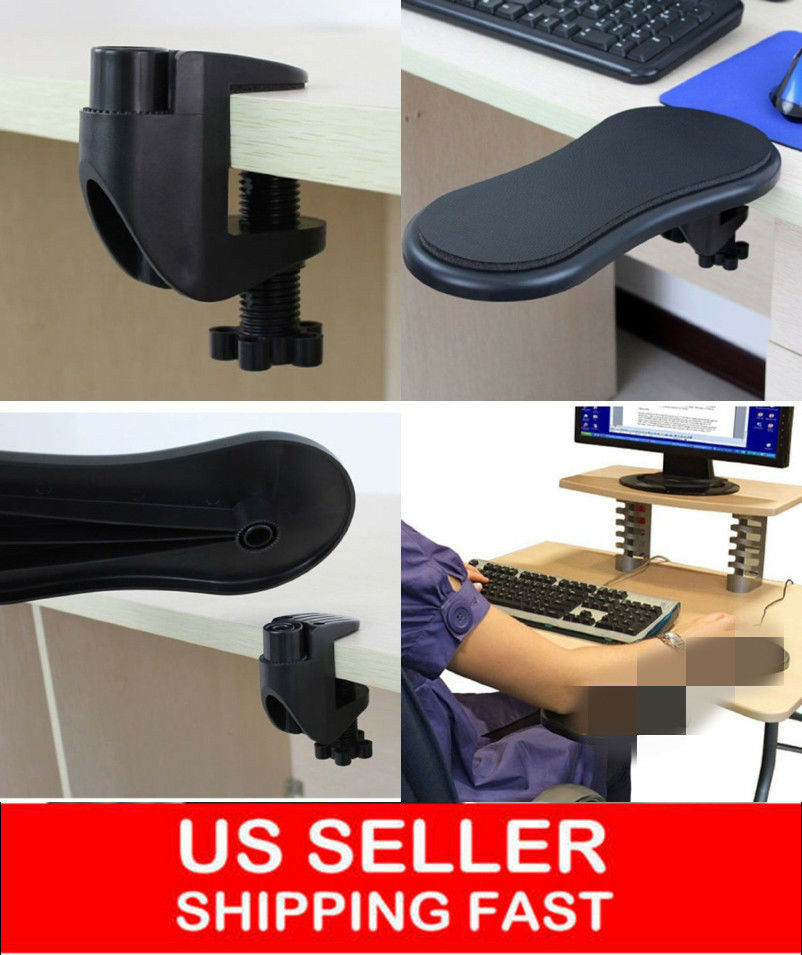 ergonomic chair attachment dx racing gaming adjustable computer desk extender arm wrist rest support/ mouse pad | ebay