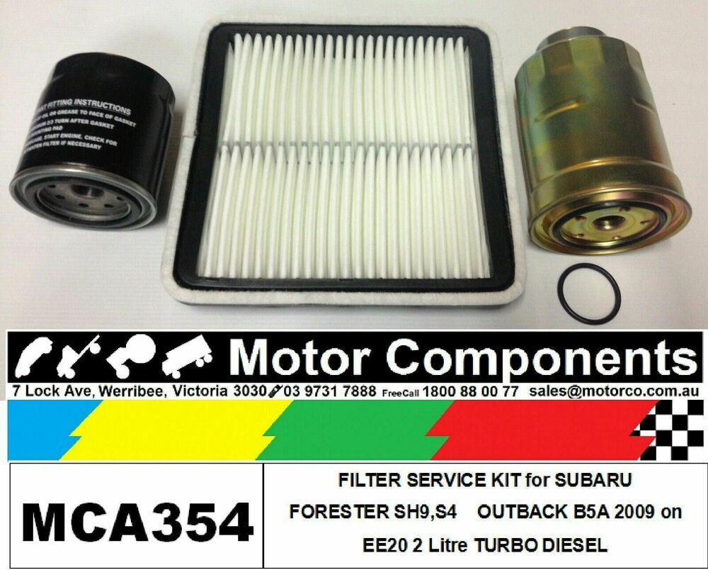 hight resolution of details about filter kit oil air fuel for subaru forester outback b5a ee20 2l turbo diesel