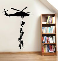 Military Army Paratrooper Helicopter Wall Vinyl Decal