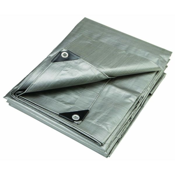 12 X 20 Heavy Duty Reinforced Tarpaulin Purpose Canopy Poly Tarps 6oz Mil
