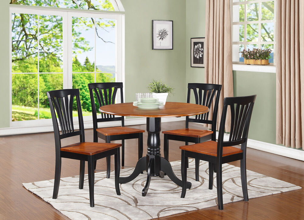 Dlav5bchw 5 Pc Small Kitchen Table And Chairs Set