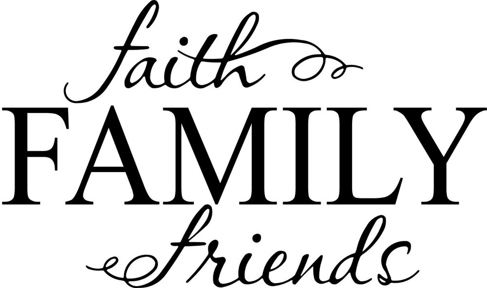 Faith Family Friends Cute vinyl wall decal quote sticker