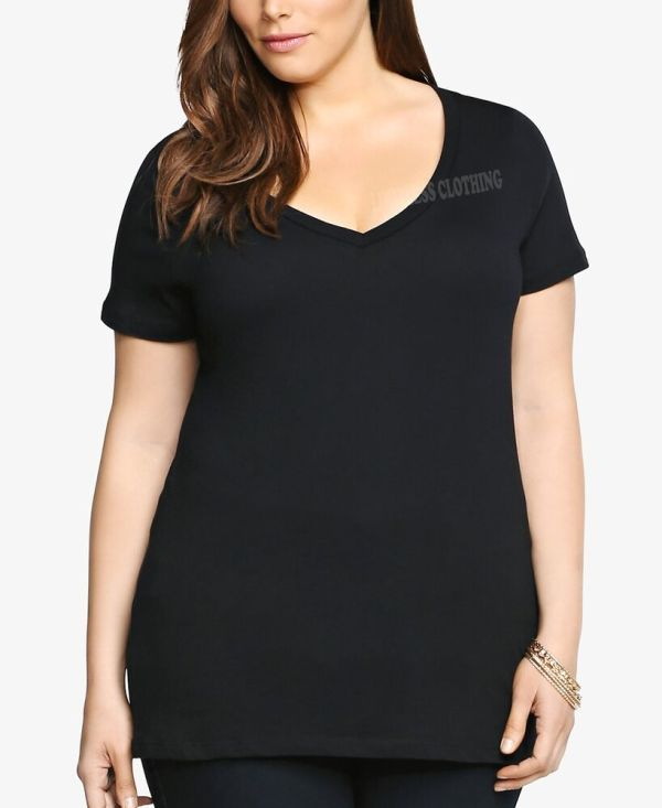 Women Size -neck Premium Basic T-shirt Soft 100 Cotton Sizes 2xl 3x 4x 5x