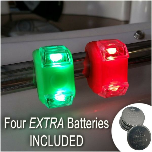 Green & Red Portable Marine Led Boating Lights - Boat Bow