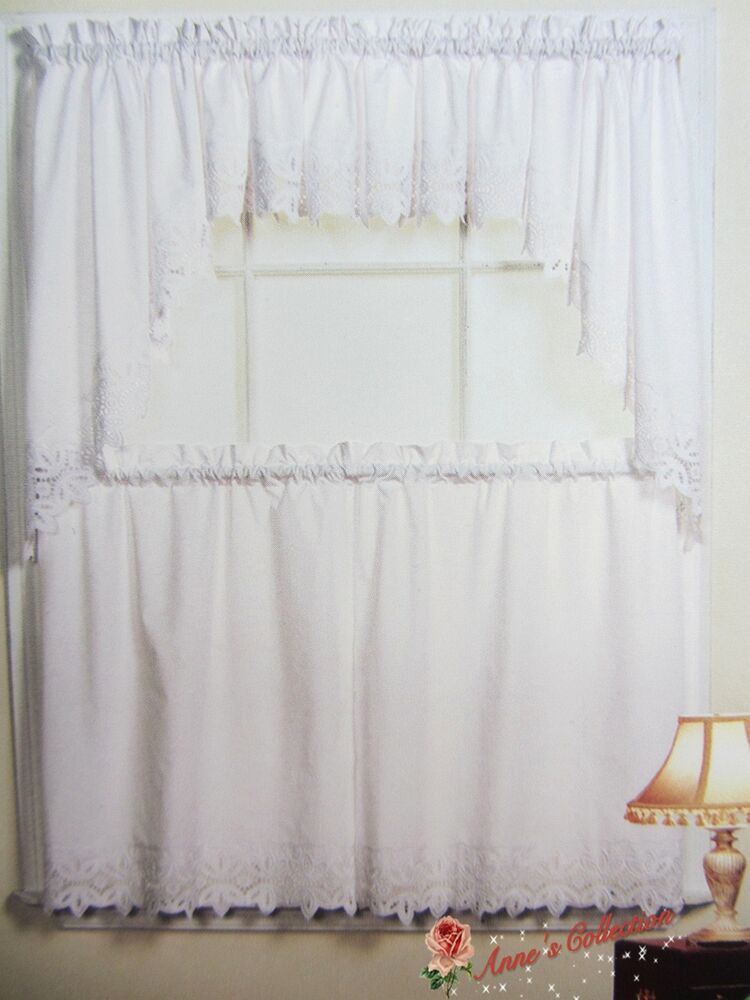 kitchen window valances shoes for work in beautiful embroidered lace curtain~swag&tiers ...