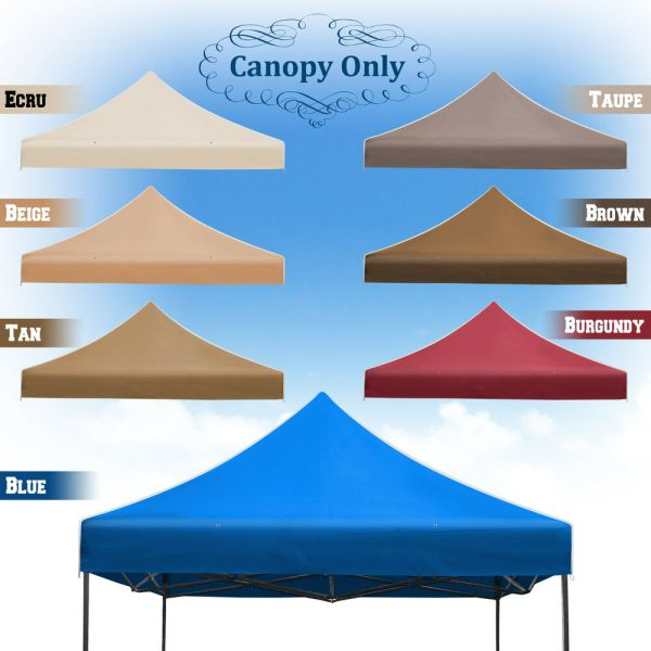 10x10' Ez Pop Replacement Canopy Instant Gazebo Tent Polyester Cover