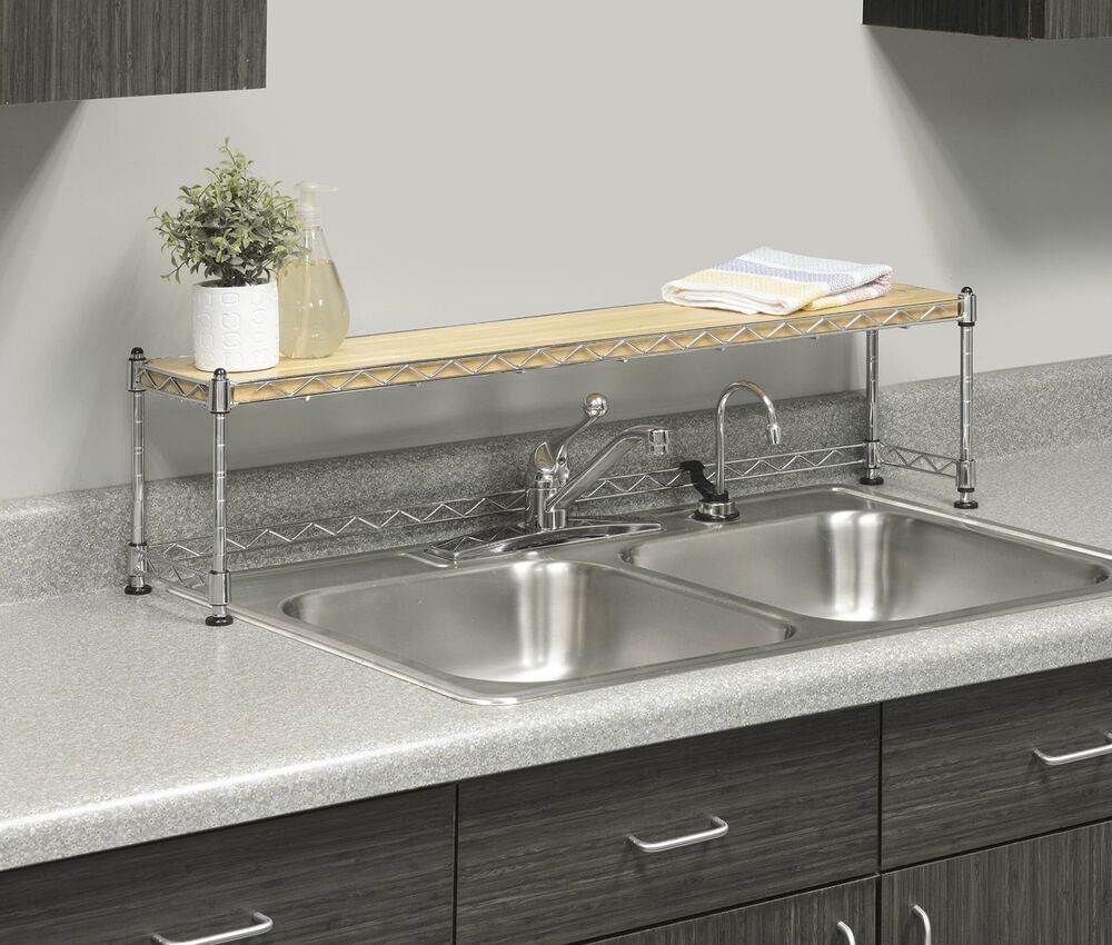 Kitchen Shelf Over Sink Rack Stand Steel Storage Shelves