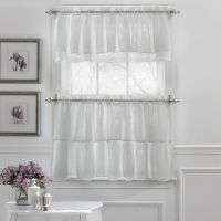 Gypsy Crushed Voile Ruffle Kitchen Window Curtain Tiers or ...