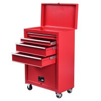 Portable Tool Chest Rolling Tool Storage Box Cabinet ...