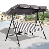 3 Person Swing Outdoor Patio Canopy Awning Yard Furniture ...