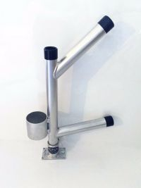 Twin Fixed Dispy Rod Holder Tree with CUP HOLDER. Aluminum ...