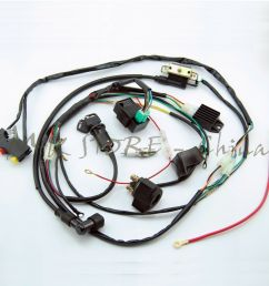 full wiring harness loom solenoid coil regulator cdi 50 70 110cc bike wiring harness bicycle wiring harness [ 1000 x 1000 Pixel ]