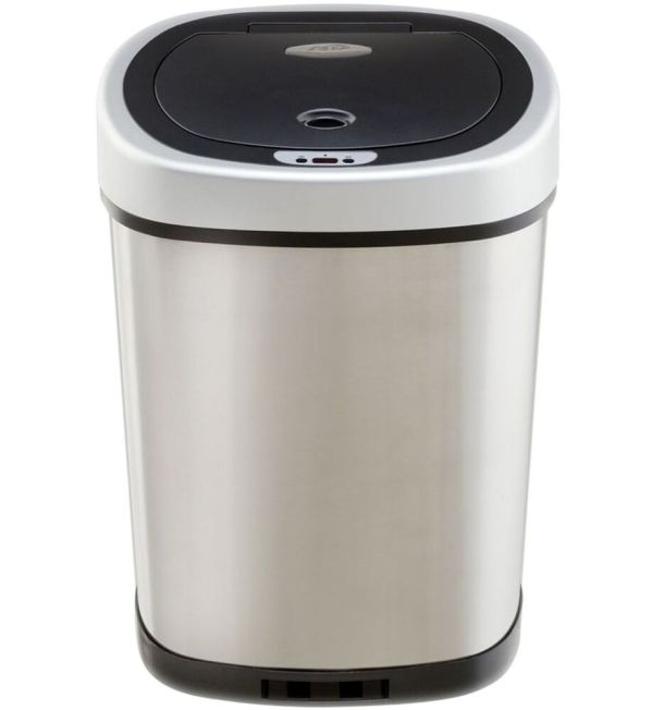 Automatic Trash Nine Stars Commercial Touchless Stainless Steel 13.2-gallon