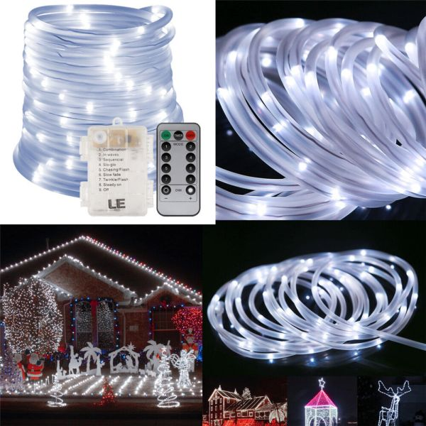 Le 33ft 120 Led Rope Tube Lights Strip Waterproof Outdoor