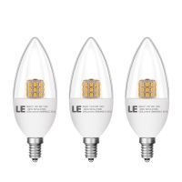 6W E12 Candelabra LED Candle Bulbs Light Lamp Dimmable 60W ...