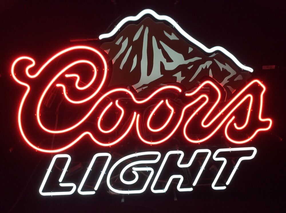 "New Coors Light Beer Real Glass Handmade Neon Sign 18""x14"