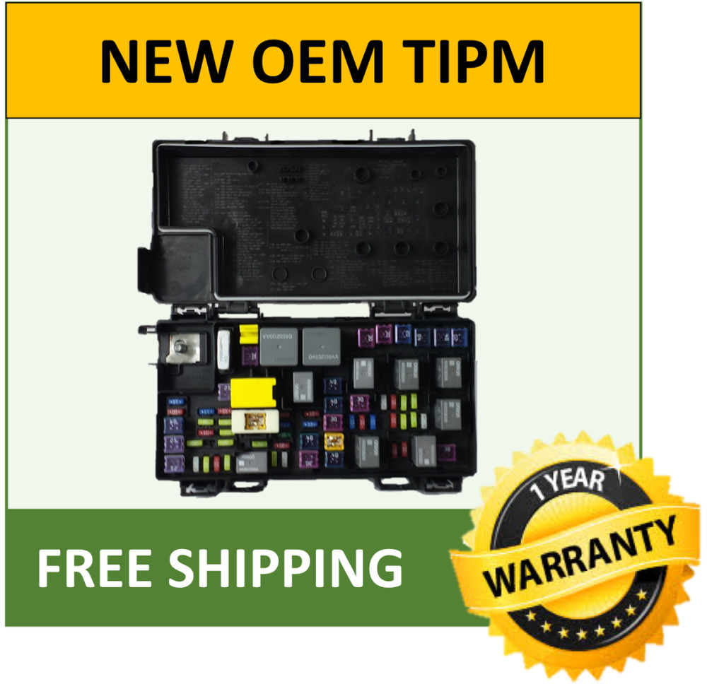 hight resolution of 2011 jeep grand cherokee tipm fuse box fuse relay box genuine oem 04692315aj ebay 2003 durango