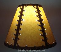Rustic Double Laced Cabin Table Light LAMP SHADE Clip