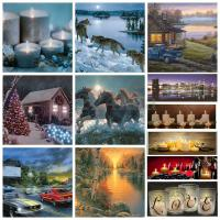 Christmas Light-up LED Lighted River Horses Wall Art Home ...