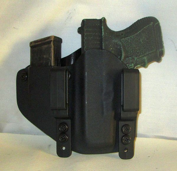 Custom Kydex Iwb Left Hand Holster With Extra Mag Carrier