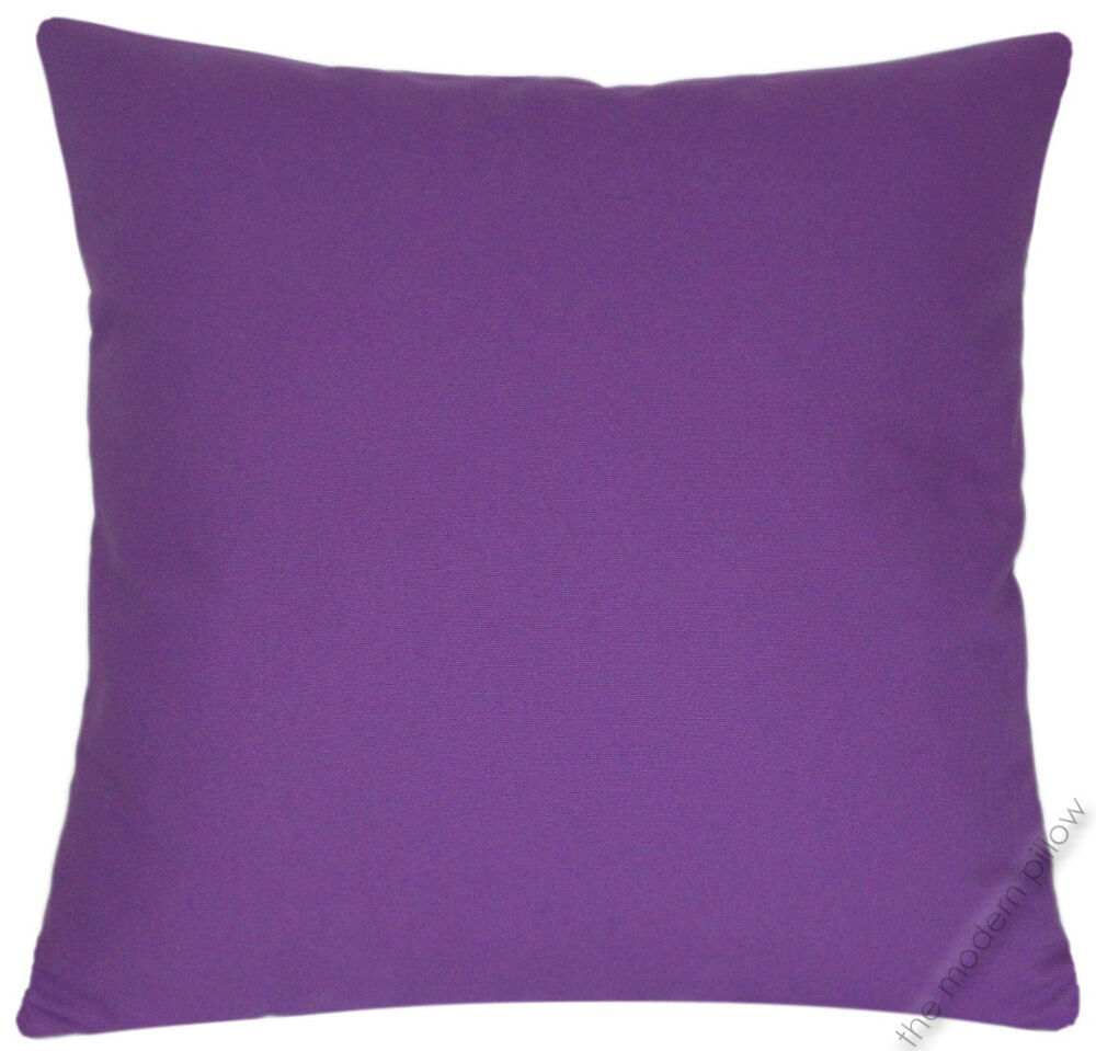 Purple Violet Solid Decorative Throw Pillow CoverCushion