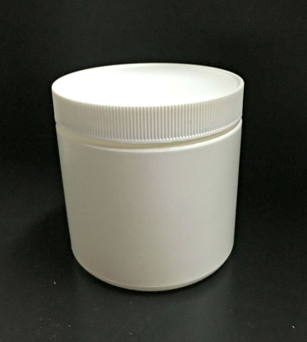 Small White Plastic Canister Container With Lid
