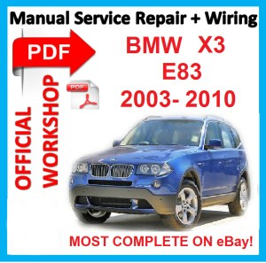 # OFFICIAL WORKSHOP MANUAL service repair FOR BMW X3 E83 2003  2010 | eBay