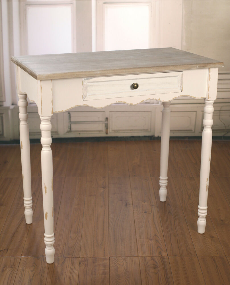 Sofa Table Antique White French Provincial Desk with