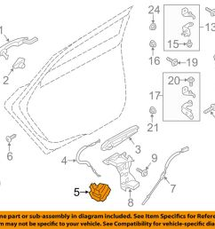 details about ford oem lock rear door latch ae8z5426412a [ 1000 x 798 Pixel ]
