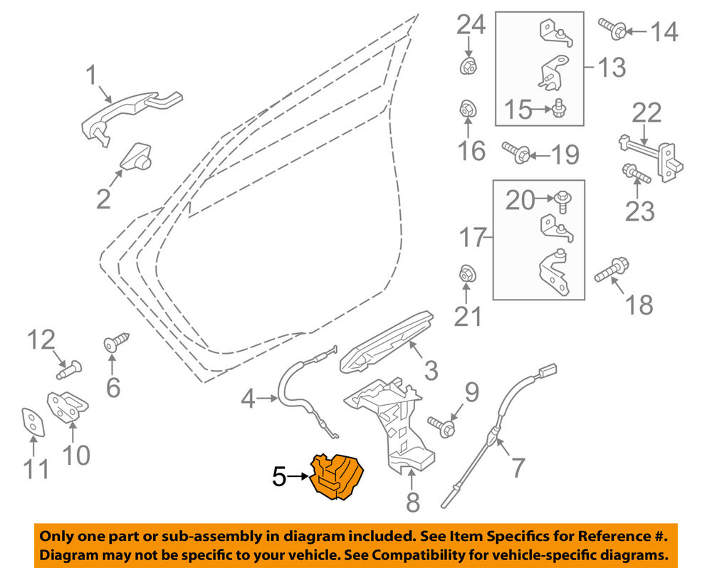 medium resolution of details about ford oem lock rear door latch ae8z5426412a