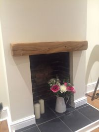 Rustic Oak Beam Floating Shelf Mantle Piece Fireplace ...