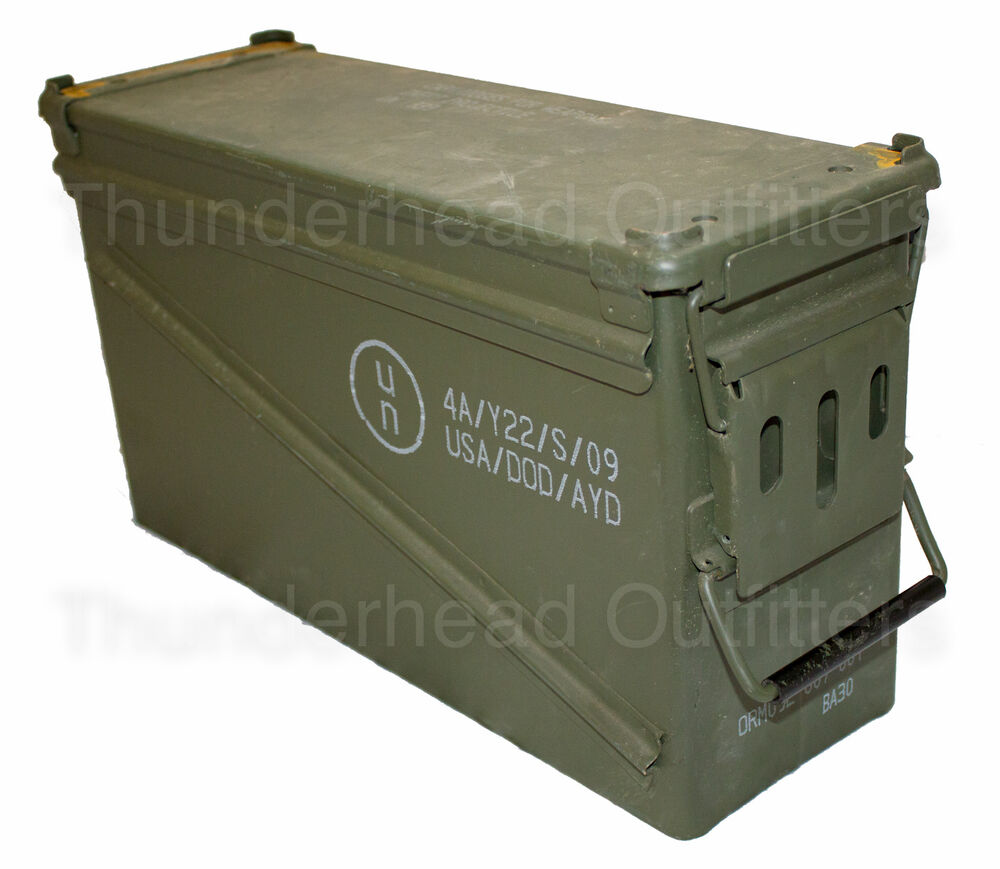 Usgi 40mm Ammo Can Pa120 Steel Large Removable Lid