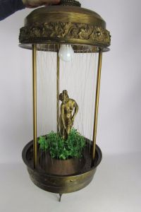 Vintage Mineral Oil Motion Rain Lamp Greek Godess Figurine ...
