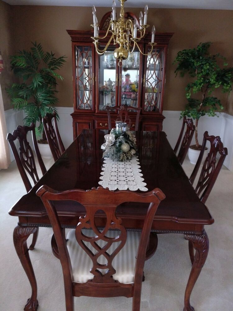 kitchen glass table brushes 8 piece dining room set, incl. table, 6 chairs, china ...